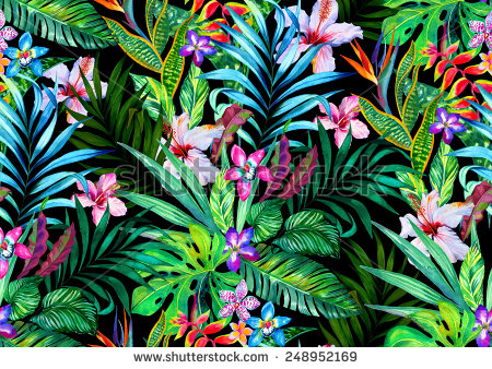 stock-photo-amazing-seamless-tropical-pattern-exotic-hibiscus-and-palm-design-for-fashion-or-interior-flower-248952169